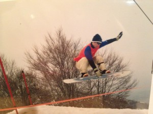 Snowboarding at Hakuba 47 in Nagano Japan